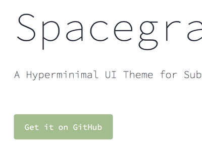 Spacegray — Sublime Text theme sublime text ui theme code editor code