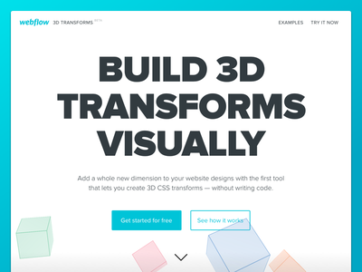 Webflow 3D Transforms transforms 3d website marketing landing webflow