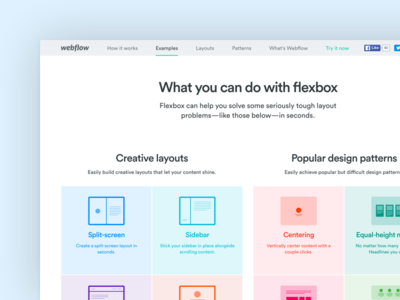 Flexbox comes to Webflow webflow landing page flexbox design tool