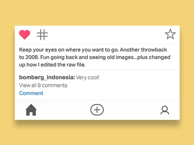 Instagram Info / Comment Section