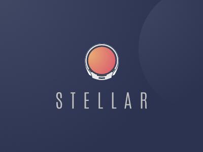 Stellar Logo illustration space logo astronaut