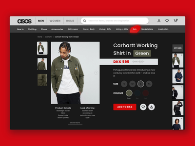 ASOS Redesign dark app webdesign webshop simple dark ui redesign concept asos concept asos redesign asos website flat typography web icon graphic design ux ui design minimal