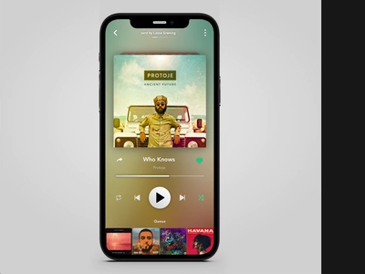 Skip Song Animation ios dynamic playlist animated gif sound player music app music song illustraion animation branding icon mobile app ux ui illustration app design minimal