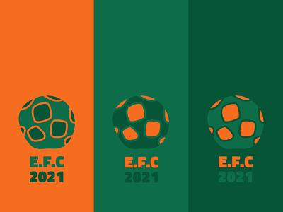 Logo   European Footbag Championship 2021 ball football icon football logo logo design champion icon championship soccer football footbag illustrator flat logo vector graphic design branding illustration app minimal design