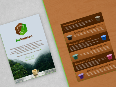 Brochure | Coffee Capsules layout coffee cup flyer mockup brochure mockup print flyer template brochure template flyer brochure plantbased biodegradable capsule coffee capsules coffee typography graphic design branding illustration minimal design