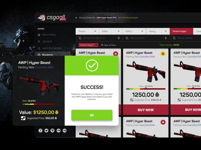 CS:GO Online Platform webdesign web ux ui black red roulette bet platform csgo design branding