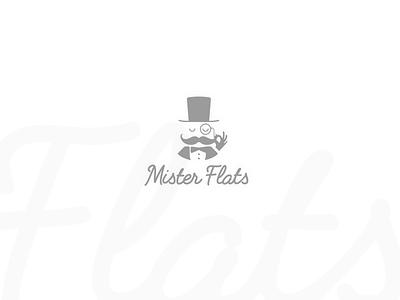 Mister Flats vector typography logo classic white clean brand branding butler