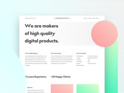 Nomads Concept work web ui studio site portfolio navigation menu flat design freelance