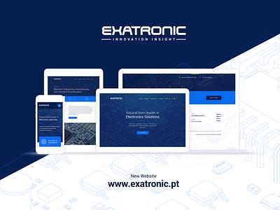 Exatronic Website Launch engineering electronics ux ui website study launch home blue case
