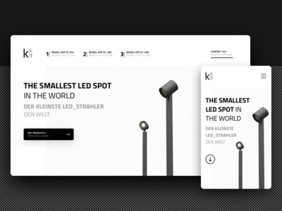 Product Landing Page one page black and white product launch landing page web ux ui