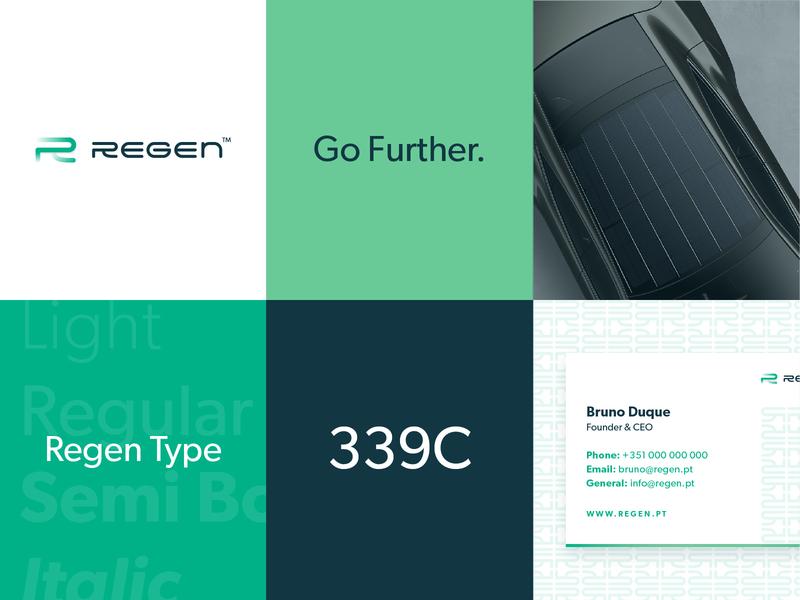 Regen Branding startup graphic design green clean typography portfolio logo design branding