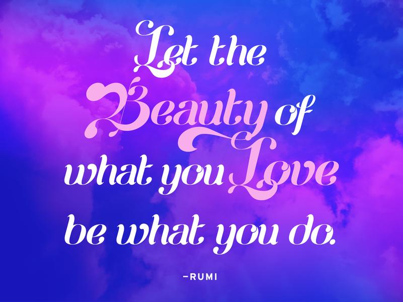 Typographic Quote – Rumi typography art display italic quote vector typography design type