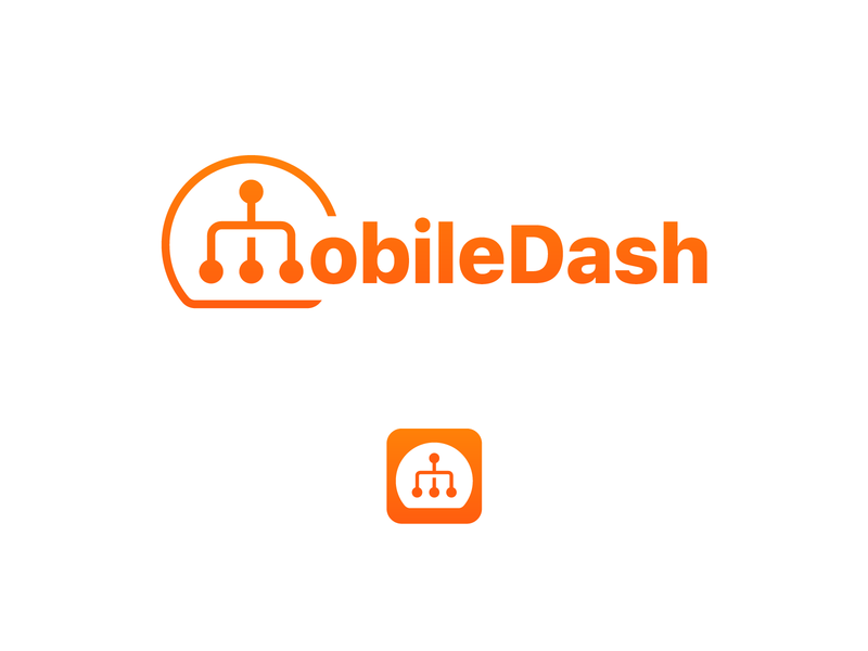 MobileDash Logo and App Concept 1 technology digital icon app vector design branding logo