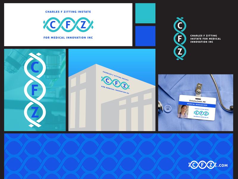 Medical Research Institute Branding #3 pattern science medical logo branding concept brand identity branding design branding