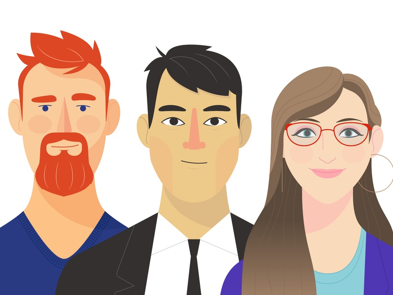 People Illustrations 1 cartoon character digital vector illustration
