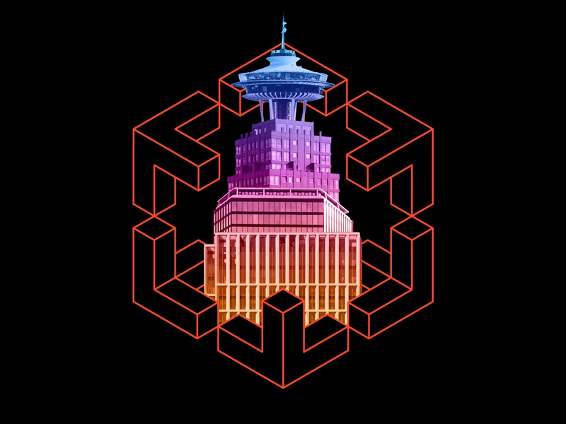 Building Tech Event Graphic event branding event branding digital icon technology vector design