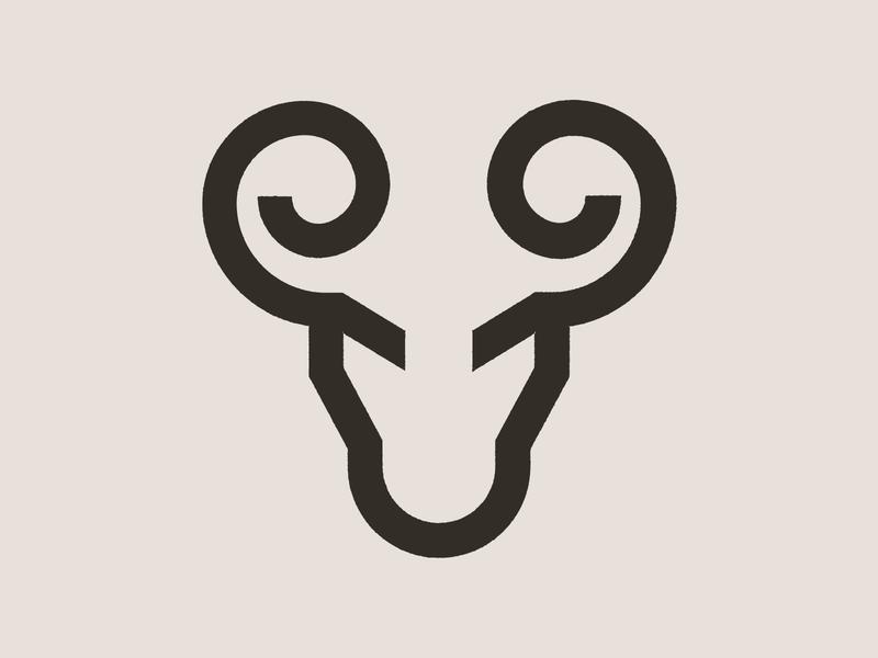 Ram Icon animal logo nature horns ram animal branding logo icon digital vector design