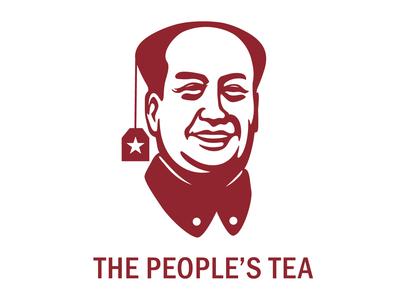 The Peoples Tea people tea icon design logo design china communism vector branding logo