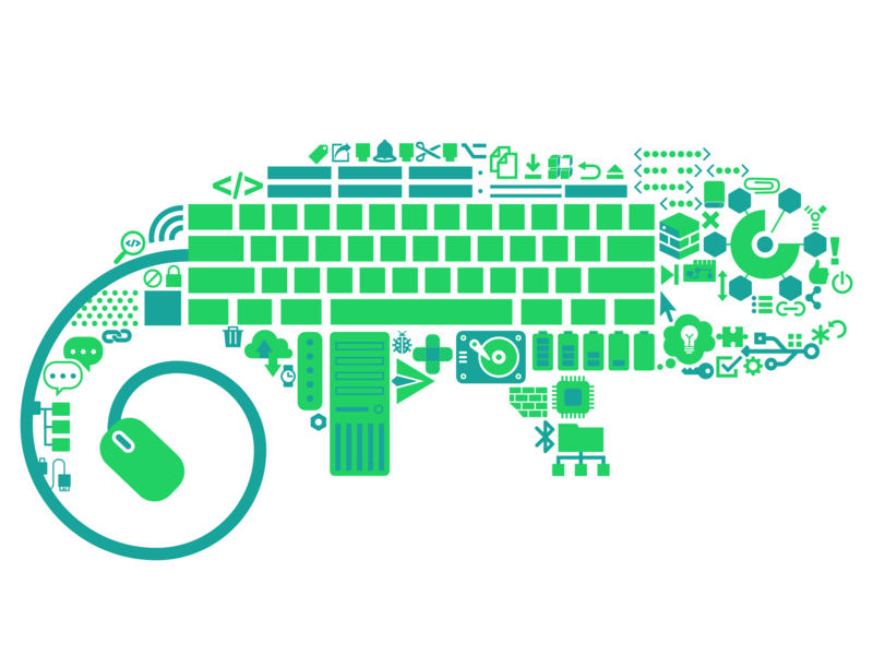 Open Build Service Graphic composite technology digital vector design illustration