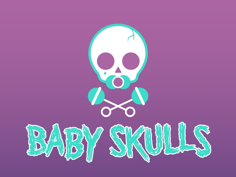 Baby Skulls Band Logo illustration design icon digital vector logo design band music branding logo