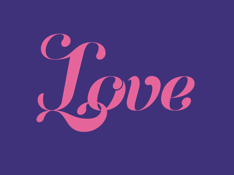 love calligraphy script lettering typography