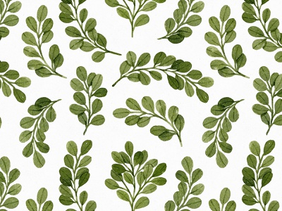 Cute green watercolor leaves pattern textile eucalyptus cute seamless watercolor pattern leaves botany illustration botanical