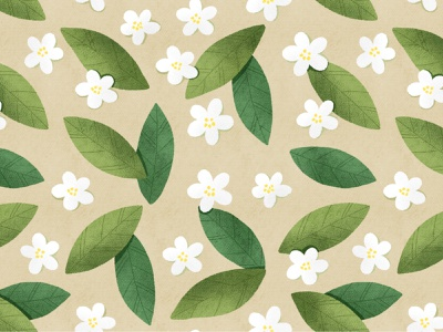 Floral Pattern wrapping paper package design cute flowers cute florals stylized flowers simple pattern green leaves pattern blossom fabrics textile wallpaper floral seamless pattern botany leaves illustration botanical