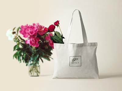 Rosea mock-up typography vector identity minimal flowers florist brand branding logo