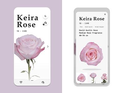 Roses Shop App florist rose flower market shop store ios ux identity brand ui  ux ui app  design app