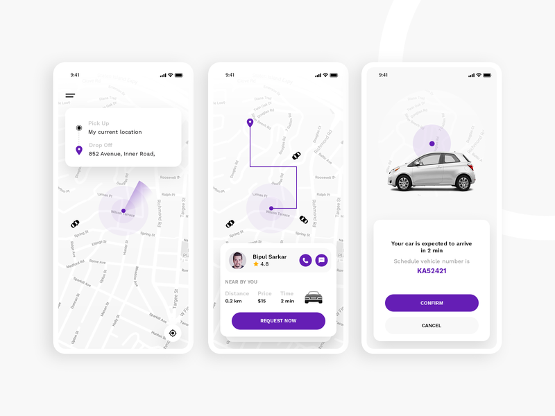 Cabxi Booking App psd xd layout design app template uxtrend iphone mobile android uidesign ui ux rentcar car taxi cab
