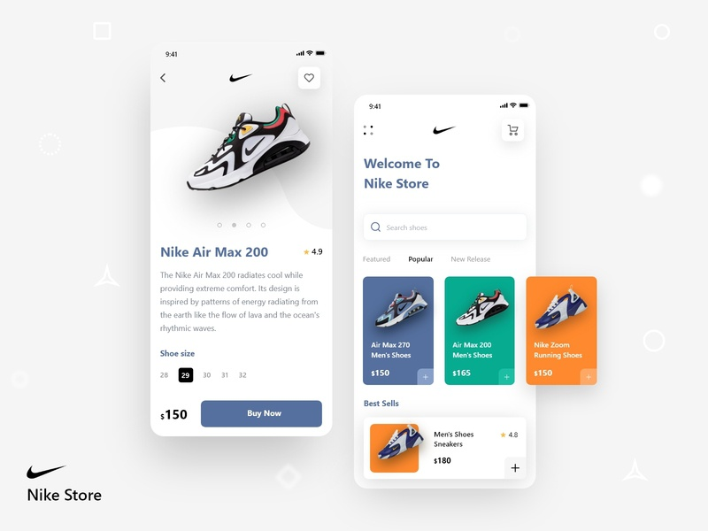 Nike Store App store app nike running sketch psd xd uxdesign uiconcept uidesign ecommerce minimal simple iphonex product shop trendy mobile application ux ui nike