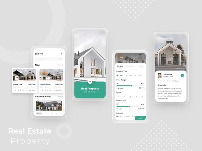 Real Estate App mobile new concpet property prototype uiux uidesign wireframe psd xd realestate property real estate logo real estate branding real estate agent realestateagent real estate agency real estate realestate app minimal
