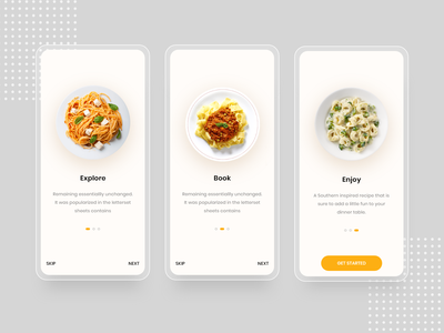 Food Delivery Onboarding App 🥧🥗 interactive figma psd xd foodmenu foodapp menu walkthrough onboarding clean new minimal simple trendy deliveryfood restaurant mobileapp app mobile food