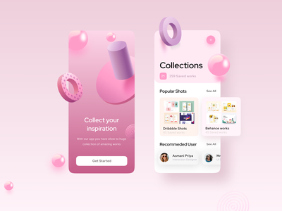 Inspiration by the App android app design iphone interface creative application trendy interaction app design figma xd sketch free uikit mobile app mobile ui app