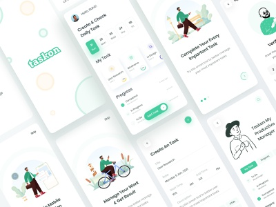 Task Management Application todolist taskmangement task iphone sketch figma xd android ios uxdesign uidesign free trendy productive interaction application mobile ux ui app