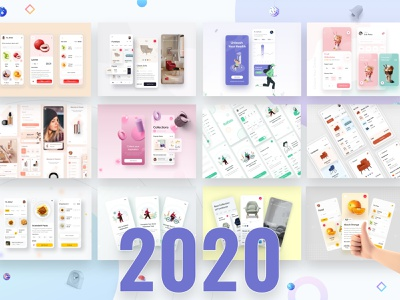 Selected some 2020 Mobile UI Kits casestudy designui mobile kit minimal simple interaction android ios appui templates styleguide presentation uiconcept mobile design trendy app uiapp design2020 2020 uikit