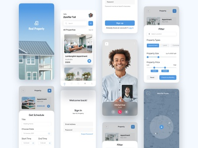 Real Estate App Concept buy property rental app houserent property new sketch figma uidesign trending interaction uikit casestudy wireframe ux mobile app design mobile design real estate agency app real estate