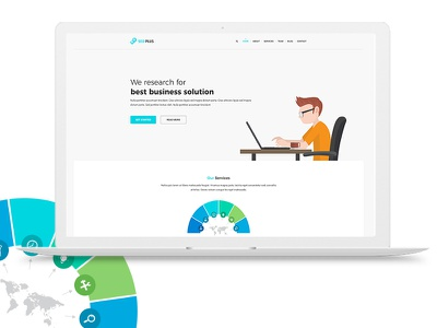 SEO PLUS Web Template corporate seo professional modern marketing creative business app agency advertising adsense