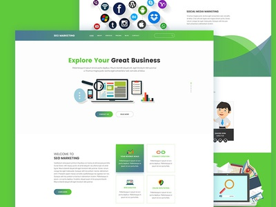 Seo Marketing Landing page Template by Tauhid sajib - Dribbble