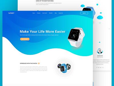 Wrist Watch gradient ui kit iphone apple watch app psd ui