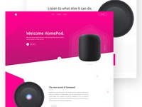 Landing page - Apple HomePod  Product Design