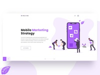 Mobile marketing strategy header