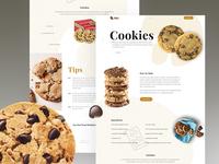Cookies Food Landing Page
