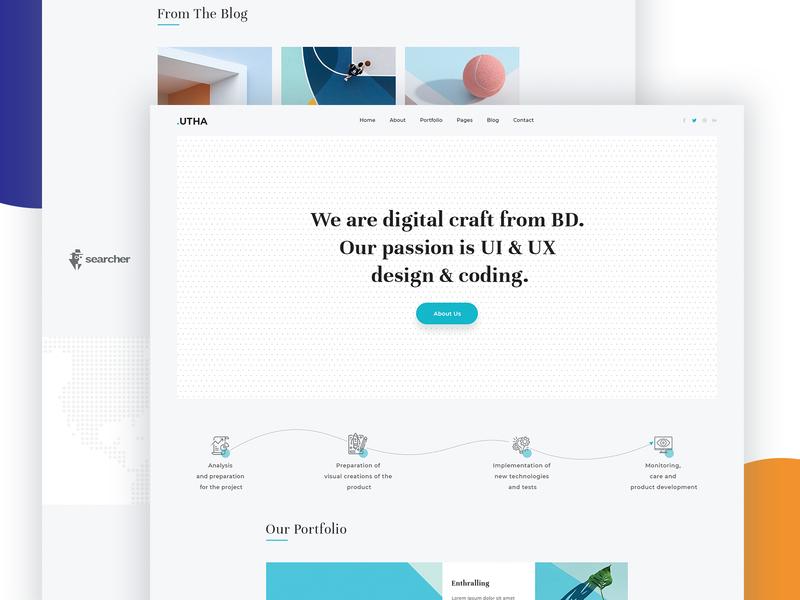 Digital Craft Agency Landing Page By Tauhid Sajib Dribbble Dribbble