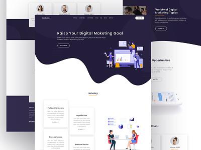 Digital Marketing Agency: Digitalsign hero home page inspire sass uiapp free aiux psd xd sketch layout webdesign landingpage software app ux ui marketing digital