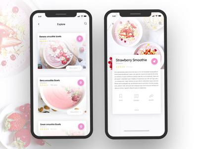 Strawberry Smoothie Food App