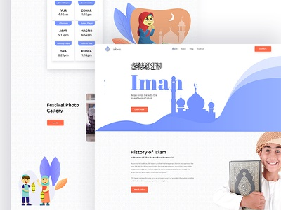 Takwa // Islamic Website Template user interface trend webdesign onepage free sketch psd uxdesign inspiratrion islamic muslim homepage landingpage layout hero ux ui webui