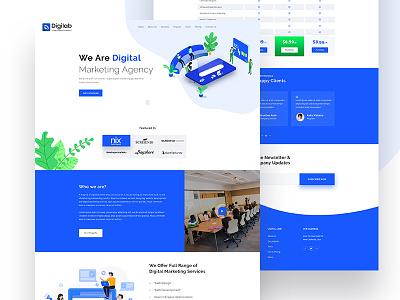 Digitlab // Landing Page Explore interaction website simple clean uikits digitalagency agency marketing digital corporate webdesign minimal responsive herosection homepage userinterface landing page ui landingpage