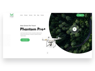 Phantom Pro // Exploring Landing Page herosection onepage homepage interactions productdesign interaction explore invision xd skecth psd layout ux ui drone
