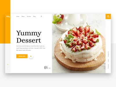 Pithy // Food Order Website Design onepage ecommerce cart article interaction landingpage sketch psd uxdesigner catering yummy uxdesign free trend menu order ux ui restaurant food